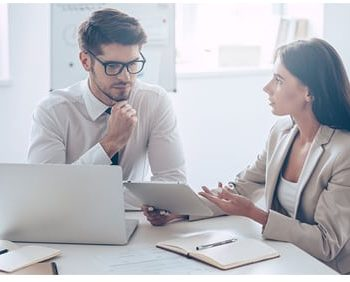 Woman discussing finances with Financial Planner