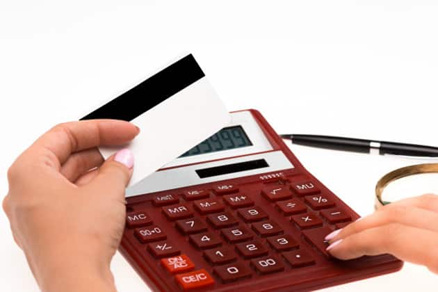 Holding calculator and paperwork