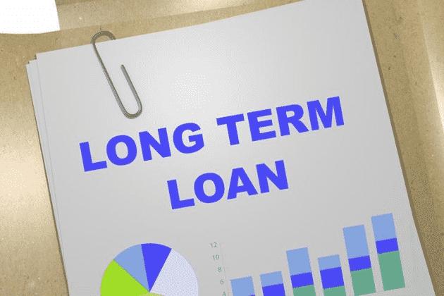 Long Term Loan written on paperwork